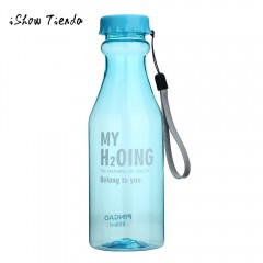 Water bottle Unbreakable Outdoor Sports Travel Portable Leak-proof Cycling Camping 550ML orange