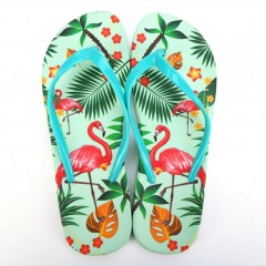 Women Beach Flip Flops Flamingos Floral 2018 Summer Fashion Slippers Ladies Comfy  Shoes Woman Home Flat Sandals