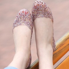 Women casual Sandals 2018 fashion flat home office sandals shoes woman Crystal sole summer Comfortable soft jelly shoes