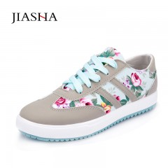 Women casual shoes printed canvas shoes tenis feminino 2018 new arrival fashion women sneakers Blue 5
