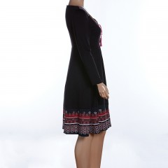 2018 Vestidos Autumn Long Sleeve Plus Size Dresses 6XL 4XL 5XL Big Large Size Robe Work Office Women Floral Print Vintage Dress