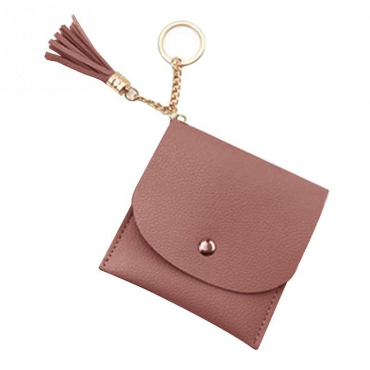 5b2214fc3aeb 2018 Women New Fashion Korean Style Tassels Purse Soft PU Leather Coin Handbag  Purse Wallet Changes
