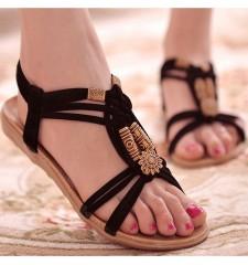 2018 Women Sandals Shoes Woman Summer Fashion Flip Flops Ladies Shoes Sandalias Mujer Black beige Beige 36