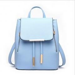 Women Backpack High Quality PU Leather Mochila Escolar School Bags For Teenagers Backpacks Beige
