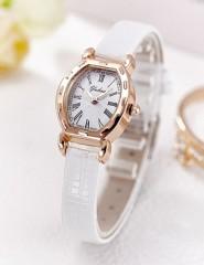 Gold Bracelet Watches Women Luxury Brand Leather Strap Quartz Watch For Women Wristwatches Female Brown