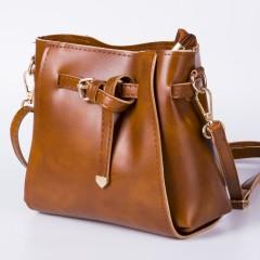 Allmall New Women Shoulder Bag Leather Clutch Handbag Tote Purse Hobo lady Messenger Bag Brown 22*18*10