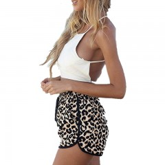 Women Summer 2017 Casual Leopard Printed Shorts Plus Size S-XL Women's Shorts Casual Short Pants