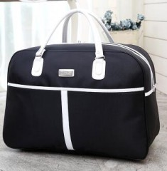 Women Travel Bags 2018 New Fashion Oxford Waterproof Large Capacity Luggage Duffle Bag Casual black193 52*34*22cm