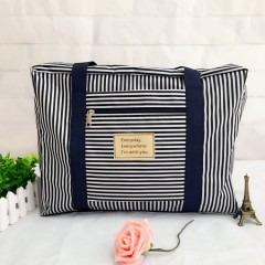 New Fashion WaterProof Travel Bag Large Capacity Bag Women Folding Bag Men Luggage Striped blue173