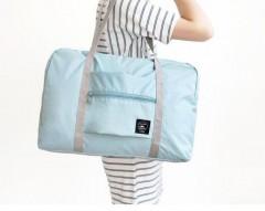 2018 NEW Folding Travel Bag Nylon Travel Bags Hand Luggage for Men & Women Fashion Travel bag Sky Blue1254