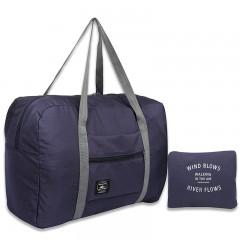 Large capacity Fashion Travel Bag Weekend Bag Big Capacity Bag For Man Women Dark blue691 52*34*22cm