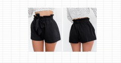 Hot Fashion Women Lady Sexy  Shorts Summer Casual Shorts High Waist Short Beach Bow Shorts Trouser Black193 S