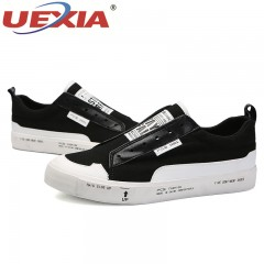New High Quality Spring/Autumn Men Slip On Shoes Comfortable Breathable Mens Shoes Casual black1254 6.5