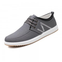 Summer Men Shoes Trend Canvas Shoes Male Casual Shoes Men's Low Board Outwear Flats Breathable 1771 gray 7