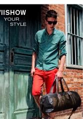 Men Travel bag fashion Large capacity shoulder handbag Designer male Messenger handbag