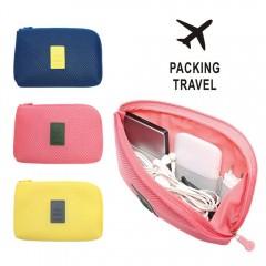 Organizer System Kit Case Portable Storage Bag Digital Gadget Devices USB Cable Earphone Pen Trave Blue173 S