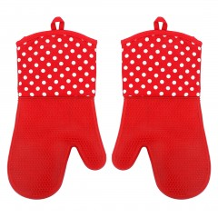 1 Pair Mitts Gloves Kitchen Tools Baking Microwave Oven Cooking Heat Resistant Silicone, 7 Colors