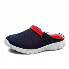 Men's Summer Shoes Sandals  New Breathable Men Slippers Mesh Lighted Casual Shoes Outdoor Slip lan hong771 6