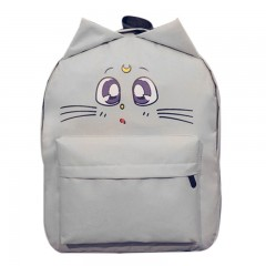 Lovely Cat 3D Cotton Backpack School Canvas Large Capacity Cute Ear Emotion Street Schoolbags for 1771