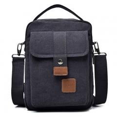 New Multifunctional Canvas Men's Chest Bag Fashion High-Quality Handbag Casual Shoulder bag Blue black193 W20H27D11 CM