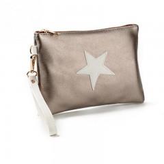 Women Bag Star Design Envelope Soft Leather Handbags Ladies Evening Party Bag Soft Leather Women D