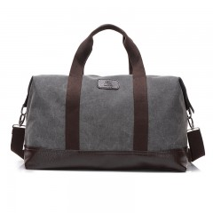 Large Capacity Canvas Travel Bags Casual Men Hand Luggage Travel Duffle Bag Big Tote 5 Colors grey771