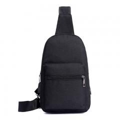 Men Chest Bags High Quality Nylon Canvas Sling Bag Crossbody Shoulder Bag With USB Charging Black193