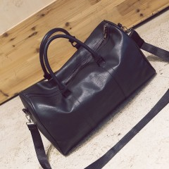 Large Capacity PU Leather men's travel bags Vintage Bucket handbags shoulder bag Big Volume black771