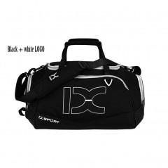 New Arrival 2018 Single Travel Bags Business Handbags Men Women Short Journey Waterproof Luggage D Black white