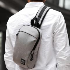 Crossbody Bags for Men Messenger Portable Chest Bag Pack Casual Bag Waterproof Grey691