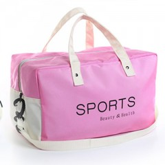 Fashion Oxford Wet And Dry Separation Travel Bag Large Capacity Portable Duffle Bag Packing Cube H pink771 51*23*27cm