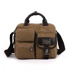 Fashion Canvas Handbag Shoulder Bag Men Vintage Crossbody Sling Bags For Men Satchel Casual Messen