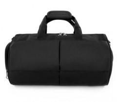 Waterproof Men Travel Bags Fashion Barrel Portable Duffle Bag Casual Handbags Black Luggage black193