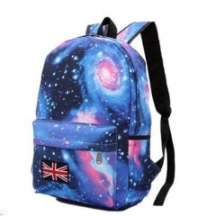 Multicolor Women Canvas Backpack Stylish Galaxy Star Universe Space Backpack Girls School Backbag Blue193