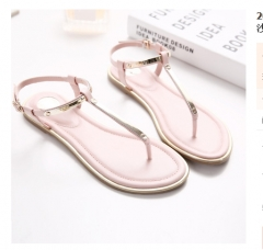 2018 summer shoes women bohemia beach flip flops soft flat sandals woman casual comfortable shoes pink sandal women 34