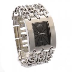 Women Wristwatches Quartz Watch Ladies Bracelet Watch Dress Relogio Silver black dial