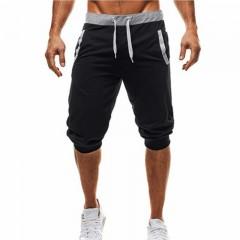 men Leisure Men Knee Length Shorts Color Patchwork Joggers Short Sweatpants Trousers Men Bermuda