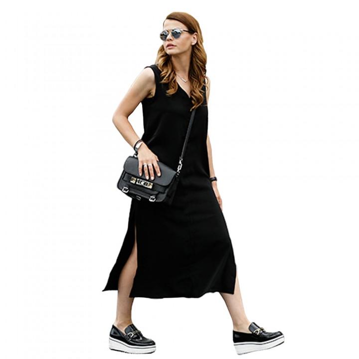 T Shirt Dress Women Summer Beach Sexy Elegant Casual Ukraine Vintage Linen Boho  Party Long Black f0eb3821a9d8