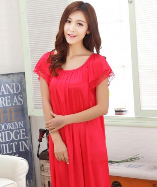8534b9b277 summer Women s Sleepwear Female Sexy Spaghetti Strap Nightgown Plus Size  XXXXL Rayon Nightdress S