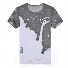 Fashion Men Tshirt Brand Design Inverted Milk Print 3D T shirt Summer Slim Mens Short Sleeve Cott