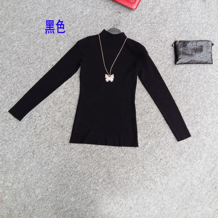 a4c7b7bac4 Women Knitted Imitation cashmere Pullover Sweater Womens Slim Half  Turtleneck Sweaters Femme Tric Black193 One Size