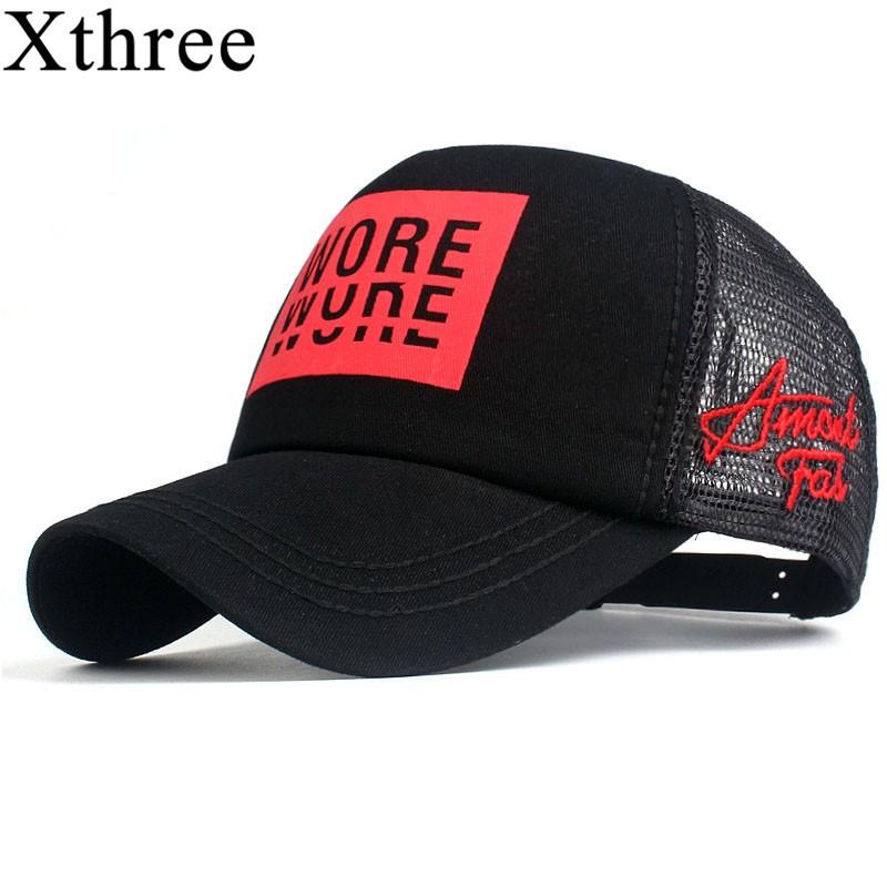 New Men s Baseball Cap Print Summer Mesh Cap Hats For Men Women ... f5077f2fd