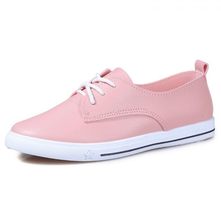 65e298c8c721 New Spring Autumn Tenis Feminino Lace-up White Shoes Woman Pu Leather Solid  Color Female