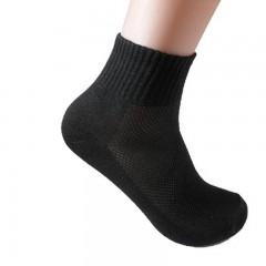 Mens Ankle Socks Breathable Mesh Spring Summer Socks Short Male Socks Man Meias Gray/Black/White