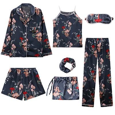 31aa2293ae 2018 Women 7 pieces Pajamas Sets Satin Silky Lingerie Homewear Sleepwear  Pyjamas for Woman Tops+S: Product No: 1846968. Item specifics: Seller ...