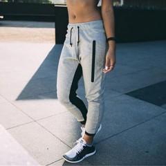 Spring Fashion Casual Femme Hip Hop Dance Pants Elastic Waist Trousers Female Sweatpants pants as show L