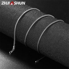 Vintage Thailand Thai Silver Men Chain Necklaces 925 Sterling Silver Long Chains for Male Women 6