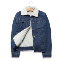 Hot Autumn Winter Lambswool Jacket Women Harajuku Jeans Jacket For Ladies Warm Fleece Vintage Den