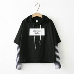 New BTS Hoodie Bangtan Boys Hoodies Casual Sweatshirt Tops Pullovers Kpop Fans Clothes Solid Cott Black193 One Size