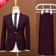 suit set the groom married male slim spring formal dress male suit piece set prom party blazer tr